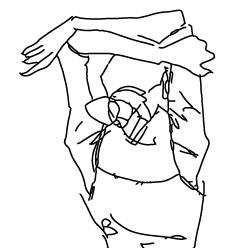 IllustratorCS6 トレース結果(ラインアート)