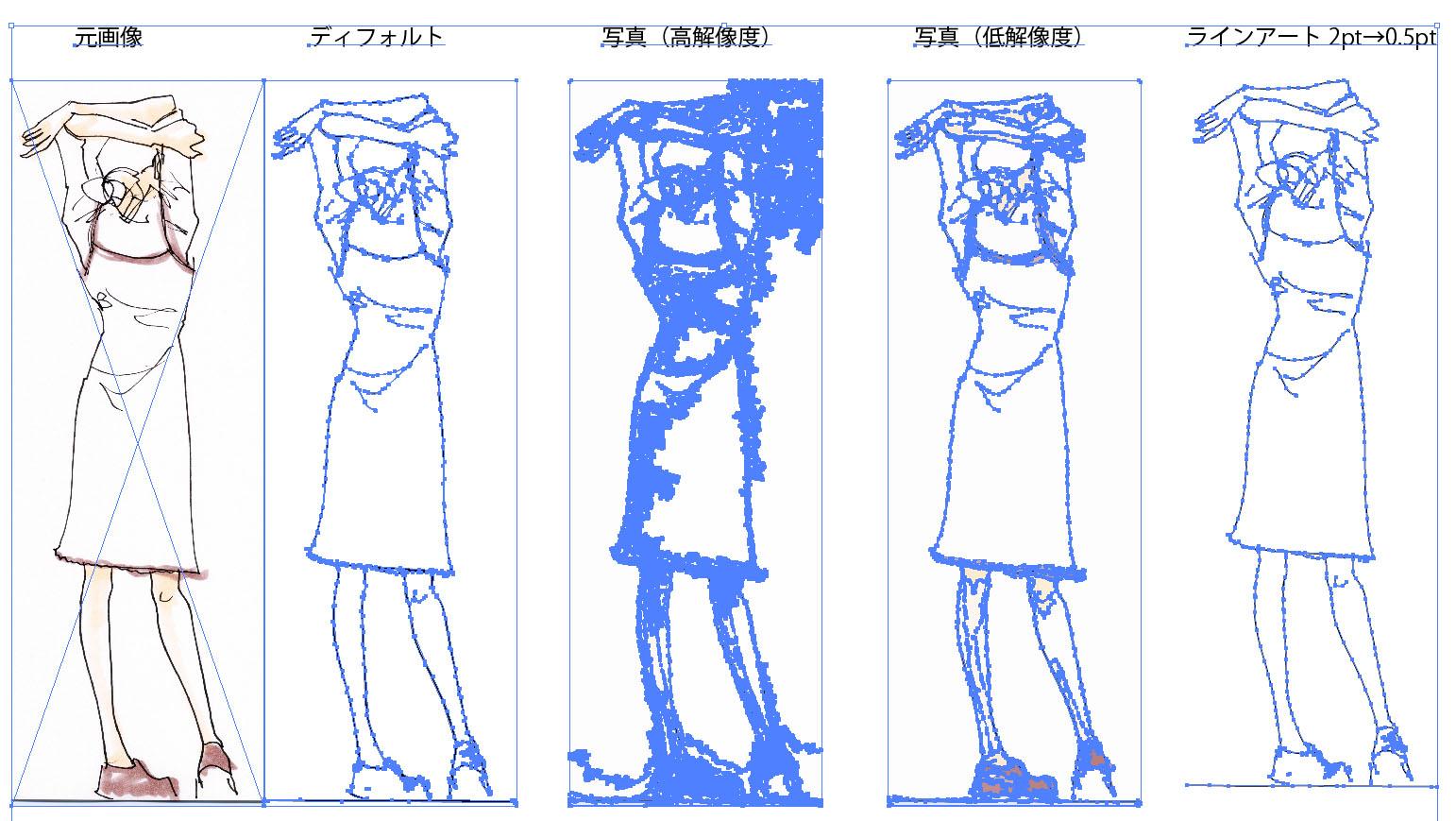 IllustratorCS6 トレース結果(アウトライン)
